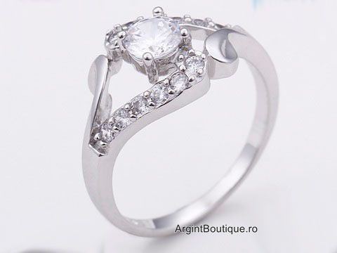 Inel ARGINT Fancy Little Diamond 925 CZ
